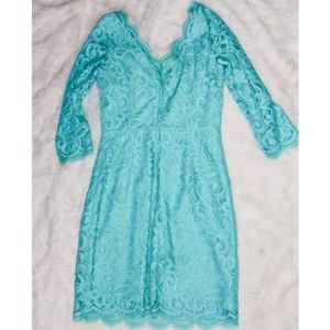 Lilly Pulitzer Turquoise Lace Dress